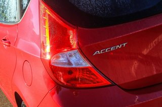2015 Hyundai Accent RB2 MY15 Active Red 6 Speed Manual Sedan
