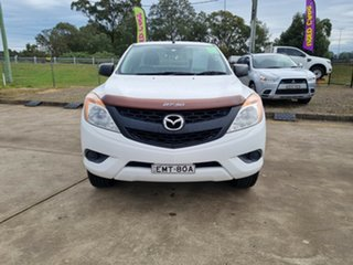2012 Mazda BT-50 UP0YF1 XT Freestyle White 6 Speed Manual Cab Chassis.