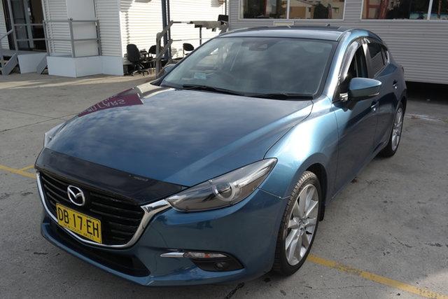 Used Mazda 3 BN5438 SP25 SKYACTIV-Drive GT Maryville, 2018 Mazda 3 BN5438 SP25 SKYACTIV-Drive GT Eternal Blue 6 Speed Sports Automatic Hatchback