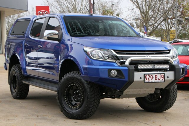 Used Holden Colorado RG MY17 LTZ Pickup Crew Cab Toowoomba, 2017 Holden Colorado RG MY17 LTZ Pickup Crew Cab Blue 6 Speed Sports Automatic Utility