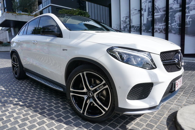 Used Mercedes-Benz GLE-Class C292 East Brisbane, 2018 Mercedes-Benz GLE-Class C292 GLE43 AMG Polar White 9 Speed Sports Automatic Coupe
