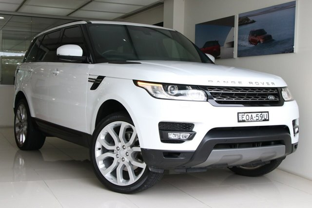 Used Land Rover Range Rover Sport L494 16.5MY SE Brookvale, 2016 Land Rover Range Rover Sport L494 16.5MY SE Fuji White 8 Speed Sports Automatic Wagon