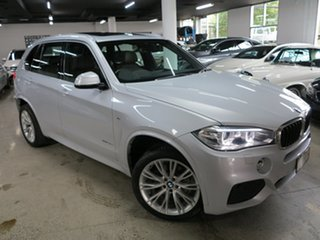2016 BMW X5 F15 xDrive30d Pearl White 8 Speed Sports Automatic Wagon.