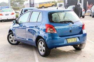 2008 Toyota Yaris NCP90R Rush Blue 5 Speed Manual Hatchback.