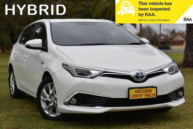 Used Toyota Corolla ZWE186R Hybrid E-CVT Enfield, 2017 Toyota Corolla ZWE186R Hybrid E-CVT White 1 Speed Constant Variable Hatchback Hybrid