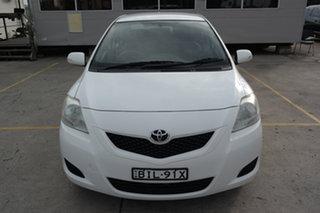 2008 Toyota Yaris NCP93R YRS White 4 Speed Automatic Sedan.