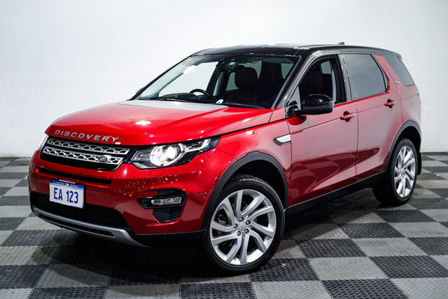 Used Land Rover Discovery Sport L550 17MY TD4 180 HSE Edgewater, 2017 Land Rover Discovery Sport L550 17MY TD4 180 HSE Red 9 Speed Sports Automatic Wagon