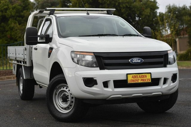 Used Ford Ranger PX XL Hi-Rider Enfield, 2014 Ford Ranger PX XL Hi-Rider White 6 Speed Sports Automatic Cab Chassis