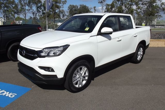 New Ssangyong Musso Q200 MY20.5 ELX Crew Cab South Gladstone, 2021 Ssangyong Musso Q200 MY20.5 ELX Crew Cab White 6 Speed Sports Automatic Utility