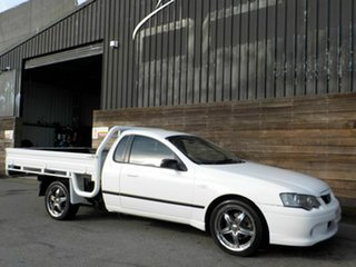 2006 Ford Falcon BF Mk II RTV Super Cab White 4 Speed Sports Automatic Cab Chassis.