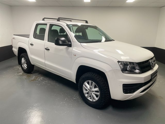Used Volkswagen Amarok 2H MY17 TDI420 4MOTION Perm Core Hamilton, 2017 Volkswagen Amarok 2H MY17 TDI420 4MOTION Perm Core Candy White 8 Speed Automatic Utility