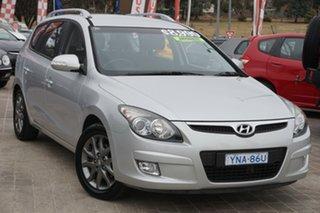 2011 Hyundai i30 FD MY11 SLX cw Wagon Silver 4 Speed Automatic Wagon.