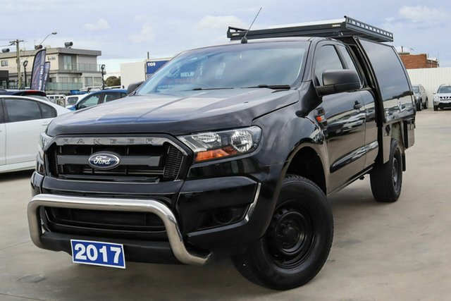 Used Ford Ranger PX MkII 2018.00MY XL Hi-Rider Coburg North, 2017 Ford Ranger PX MkII 2018.00MY XL Hi-Rider Black 6 Speed Sports Automatic Cab Chassis