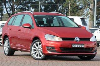 2013 Volkswagen Golf VII MY14 110TDI DSG Highline Maroon 6 Speed Sports Automatic Dual Clutch Wagon.