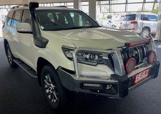 2018 Toyota Landcruiser Prado GDJ150R Kakadu White 6 Speed Sports Automatic Wagon.