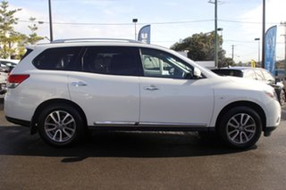 2014 Nissan Pathfinder R52 MY14 ST-L X-tronic 4WD White 1 Speed Constant Variable Wagon.