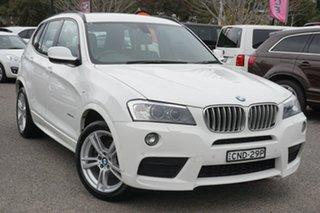 2013 BMW X3 F25 MY0413 xDrive30d Steptronic White 8 Speed Automatic Wagon.