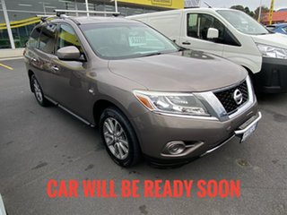 2013 Nissan Pathfinder R52 MY14 ST X-tronic 4WD Grey 1 Speed Constant Variable Wagon