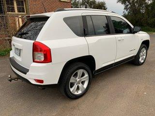 2012 Jeep Compass MK Sport White Manual Wagon.