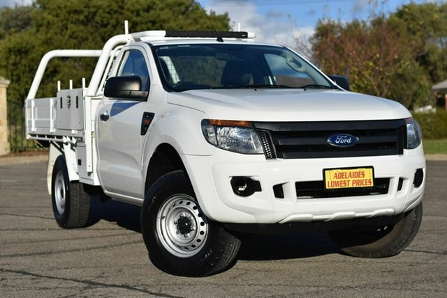 Used Ford Ranger PX XL Hi-Rider Enfield, 2013 Ford Ranger PX XL Hi-Rider White 6 Speed Manual Cab Chassis