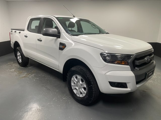 Used Ford Ranger PX MkII XLS Double Cab Hamilton, 2016 Ford Ranger PX MkII XLS Double Cab White 6 Speed Sports Automatic Utility