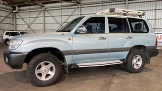 2001 Toyota Landcruiser FZJ105R 50th Anniversary GXL Turquoise 4 Speed Automatic Wagon.