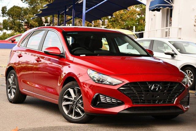 New Hyundai i30 PD.V4 MY21 Elite North Gosford, 2021 Hyundai i30 PD.V4 MY21 Elite Fiery Red 6 Speed Sports Automatic Hatchback