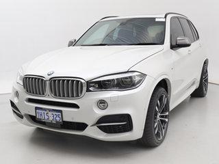 2014 BMW X5 F15 M50D White 8 Speed Automatic Wagon.