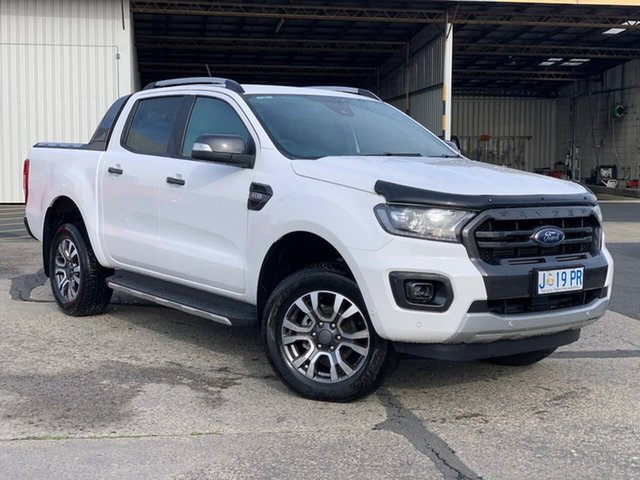 Used Ford Ranger PX MkIII 2019.00MY Wildtrak Hobart, 2019 Ford Ranger PX MkIII 2019.00MY Wildtrak White 6 Speed Sports Automatic Double Cab Pick Up