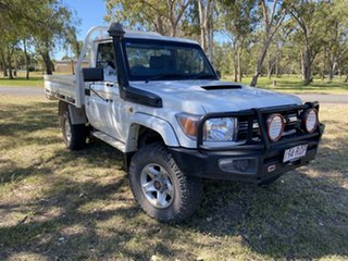 2011 Toyota Landcruiser VDJ79R 09 Upgrade GXL (4x4) French Vanilla 5 Speed Manual Cab Chassis.