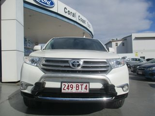 2012 Toyota Kluger GSU45R MY11 Upgrade Grande (4x4) White 5 Speed Automatic Wagon