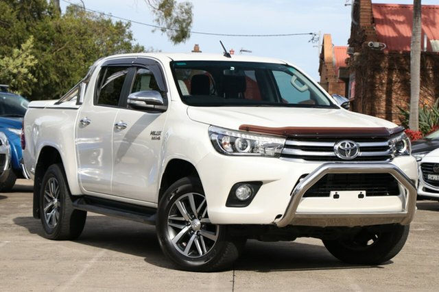 Pre-Owned Toyota Hilux GUN126R SR5 (4x4) Mosman, 2016 Toyota Hilux GUN126R SR5 (4x4) Crystal Pearl 6 Speed Automatic Dual Cab Utility