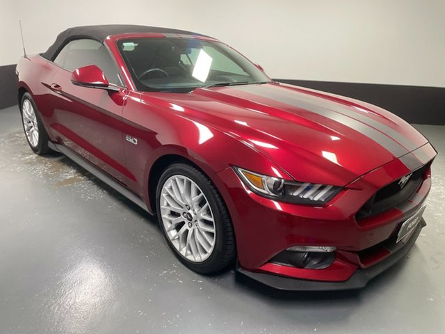Used Ford Mustang FM GT SelectShift Hamilton, 2016 Ford Mustang FM GT SelectShift Ruby Red 6 Speed Sports Automatic Convertible