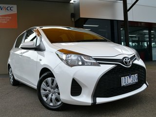 2014 Toyota Yaris NCP130R Ascent White 4 Speed Automatic Hatchback.