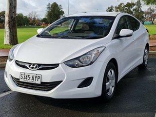 2013 Hyundai Elantra MD2 Active White 6 Speed Sports Automatic Sedan.