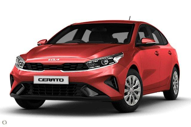 Demo Kia Cerato BD MY22 S Reynella, 2021 Kia Cerato BD MY22 S Red 6 Speed Sports Automatic Hatchback