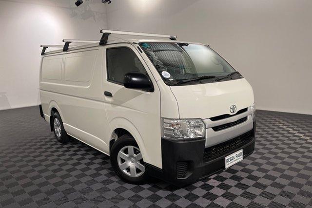 Used Toyota HiAce KDH201R LWB Acacia Ridge, 2017 Toyota HiAce KDH201R LWB French Vanilla 5 speed Manual Van