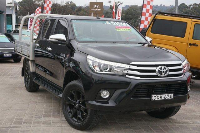 Used Toyota Hilux GUN126R SR5 Double Cab Phillip, 2017 Toyota Hilux GUN126R SR5 Double Cab Black 6 Speed Sports Automatic Utility