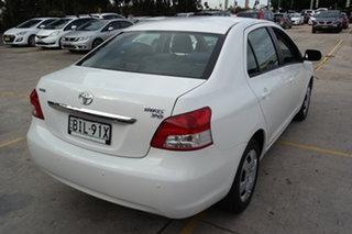 2008 Toyota Yaris NCP93R YRS White 4 Speed Automatic Sedan