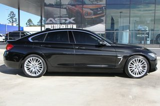 2014 BMW 4 Series F36 428i Gran Coupe Luxury Line Black 8 Speed Sports Automatic Hatchback.