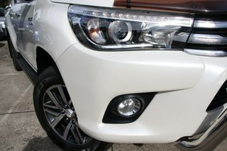 2016 Toyota Hilux GUN126R SR5 (4x4) Crystal Pearl 6 Speed Automatic Dual Cab Utility.