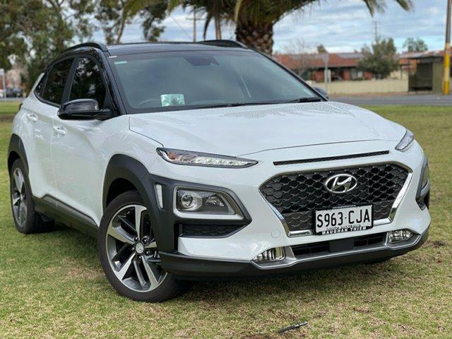 Used Hyundai Kona OS.3 MY20 Highlander 2WD Cheltenham, 2020 Hyundai Kona OS.3 MY20 Highlander 2WD Chalk White + Blackroof/black 6 Speed Sports Automatic