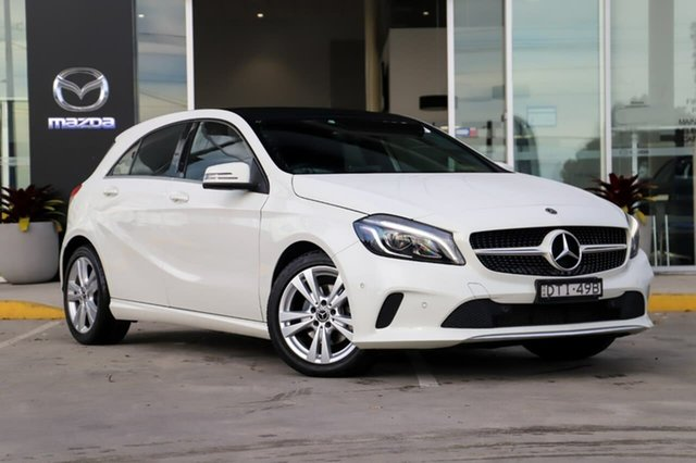 Used Mercedes-Benz A-Class W176 808MY A180 D-CT Kirrawee, 2017 Mercedes-Benz A-Class W176 808MY A180 D-CT White 7 Speed Sports Automatic Dual Clutch Hatchback
