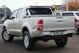 2012 Toyota Hilux KUN26R MY12 SR5 Double Cab Silver 4 Speed Automatic Utility