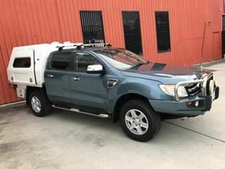 2012 Ford Ranger PX XLT Double Cab Blue 6 Speed Sports Automatic Utility