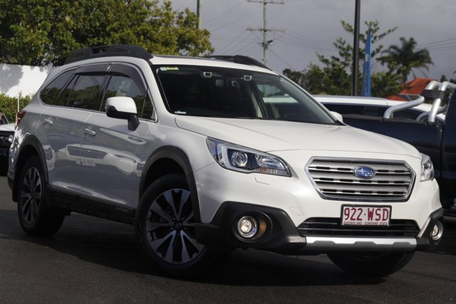 Used Subaru Outback B6A MY16 2.5i CVT AWD Premium Mount Gravatt, 2016 Subaru Outback B6A MY16 2.5i CVT AWD Premium Crystal White 6 Speed Constant Variable Wagon