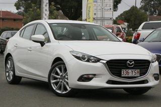 2019 Mazda 3 BN5238 SP25 SKYACTIV-Drive White 6 Speed Sports Automatic Sedan.