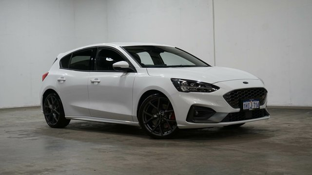 Used Ford Focus SA 2021MY ST Welshpool, 2020 Ford Focus SA 2021MY ST White 7 Speed Automatic Hatchback