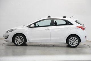 2012 Hyundai i30 GD Active Creamy White 6 Speed Sports Automatic Hatchback.