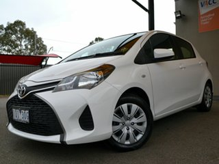 2014 Toyota Yaris NCP130R Ascent White 4 Speed Automatic Hatchback
